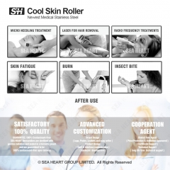 Skin Ice Derma Roller for Fac Refreshing and Rejuvenation ( Stainless Roller )