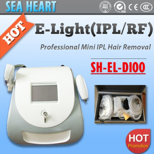 Portable E-Light Hair Removal Machine with IPL/ RF Head