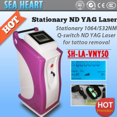 Q-switch stationary 1064/532nm nd yag laser machine for tattoo removal