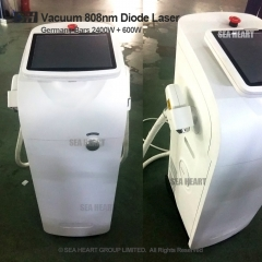 2400W + 600W High power Big Spot Vacuum 808 diode laser hair removal machine