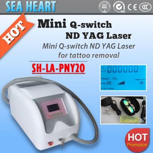 New Designed q switch nd yag laser tattoo removal machine