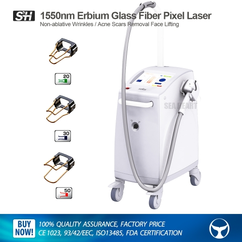 1550nm Erbium Glass Fiber Pixel Laser Non-ablative Wrinkles / Acne Scars Removal Face Lifting