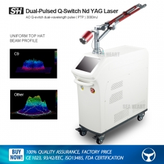 Dual-pulsed Picosecond Q Switch Nd Yag laser with Lens Array